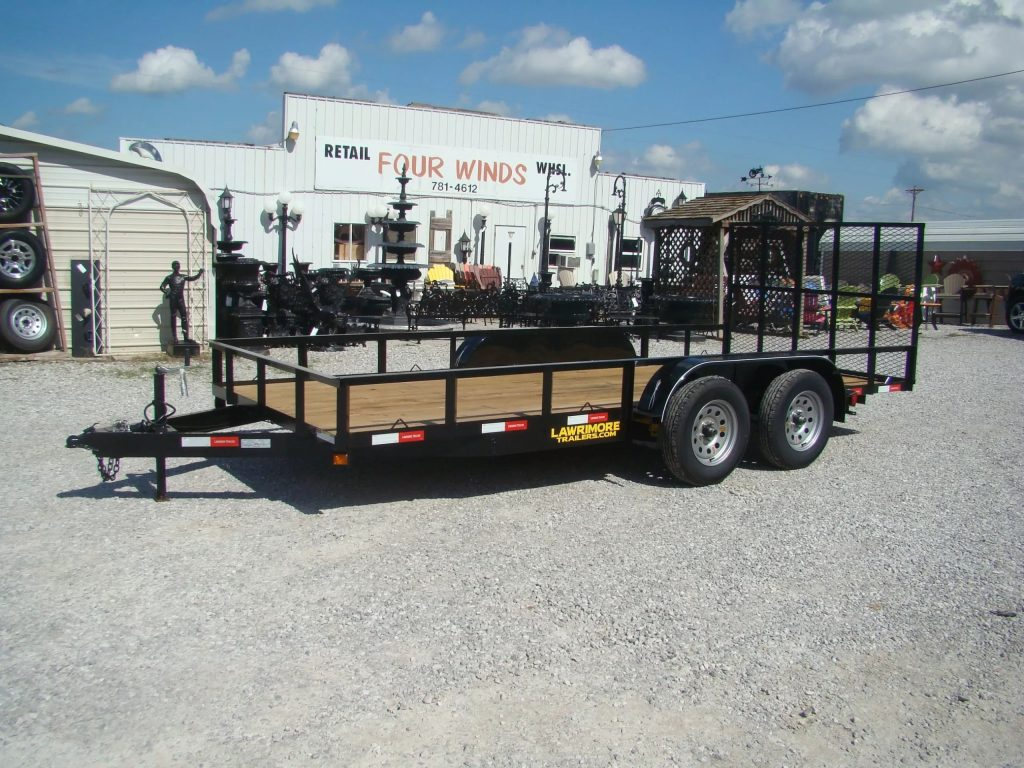 77x16 angle utility trailers with gate