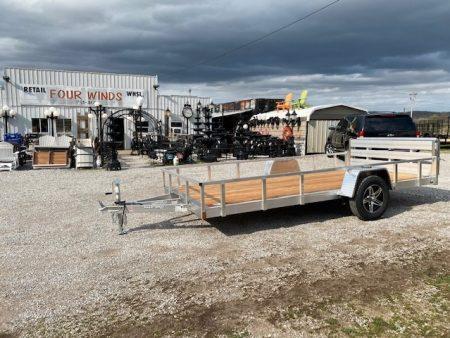6 5x12 alum utility with treated floor alum wheels