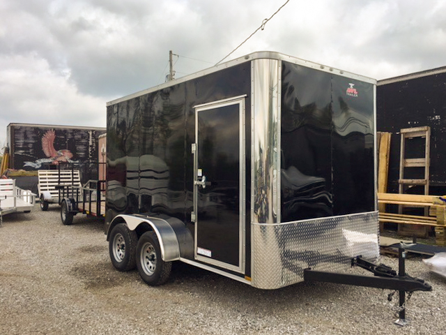 black small enclosed trailer