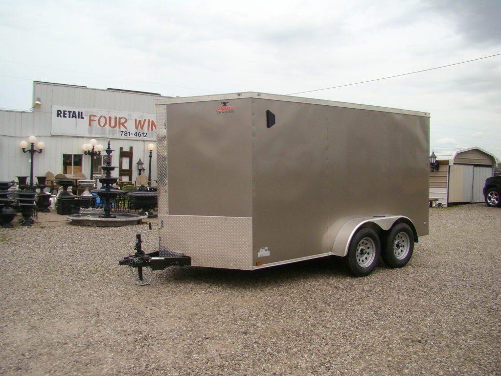 metal small enclosed trailer