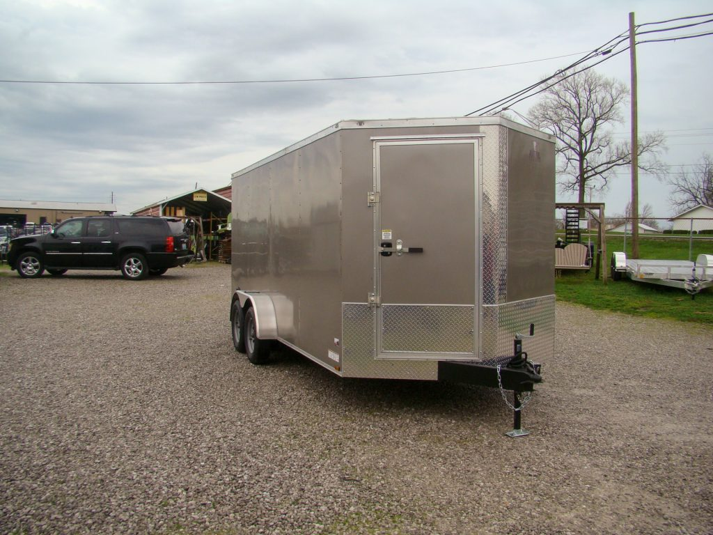 small enclosed trailer with front escape door