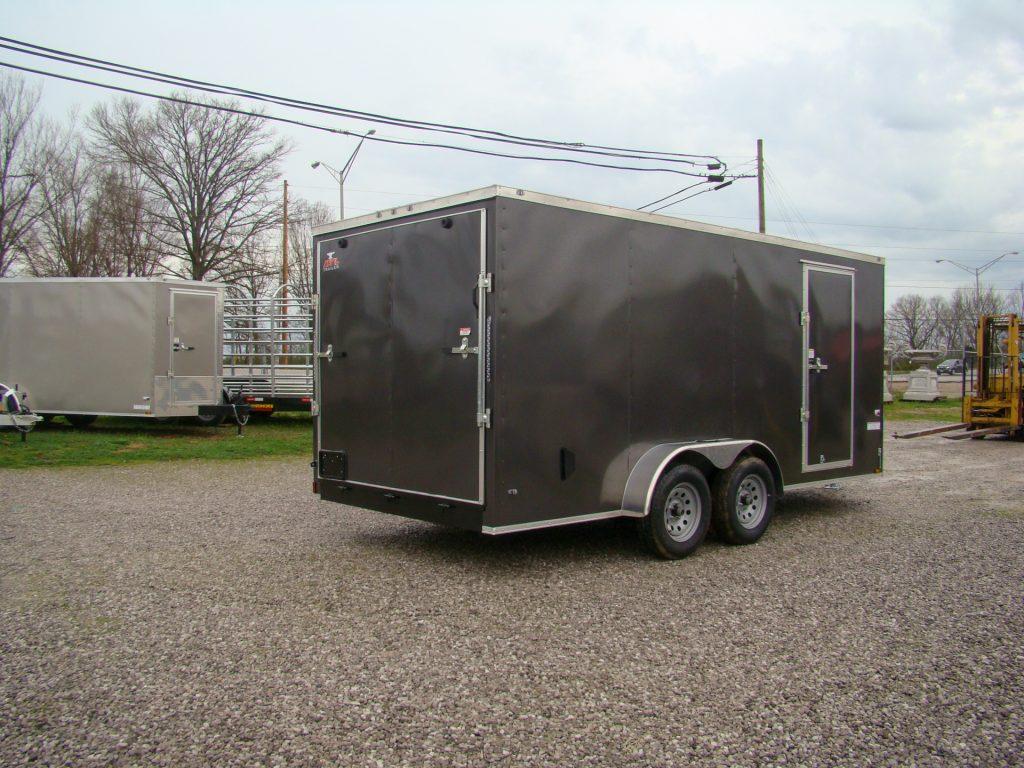 small enclosed trailer with rear door