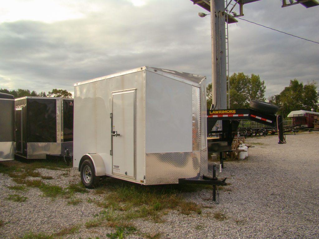 white small enclosed trailer