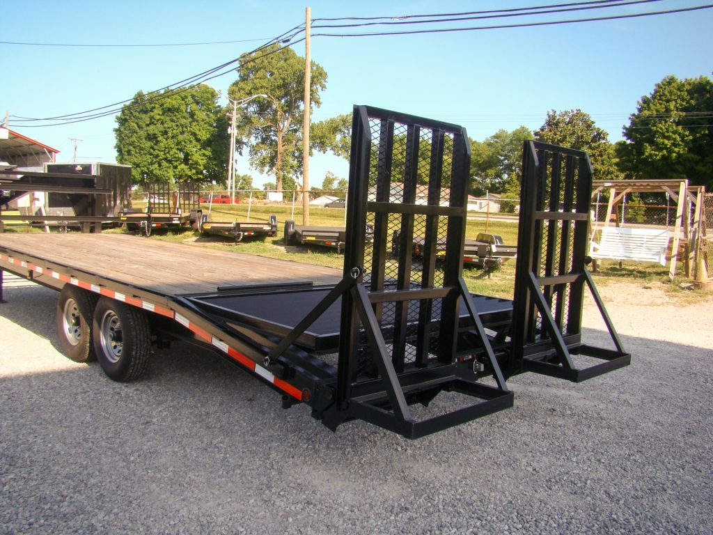 equipment trailers for sale with rear spring ramps