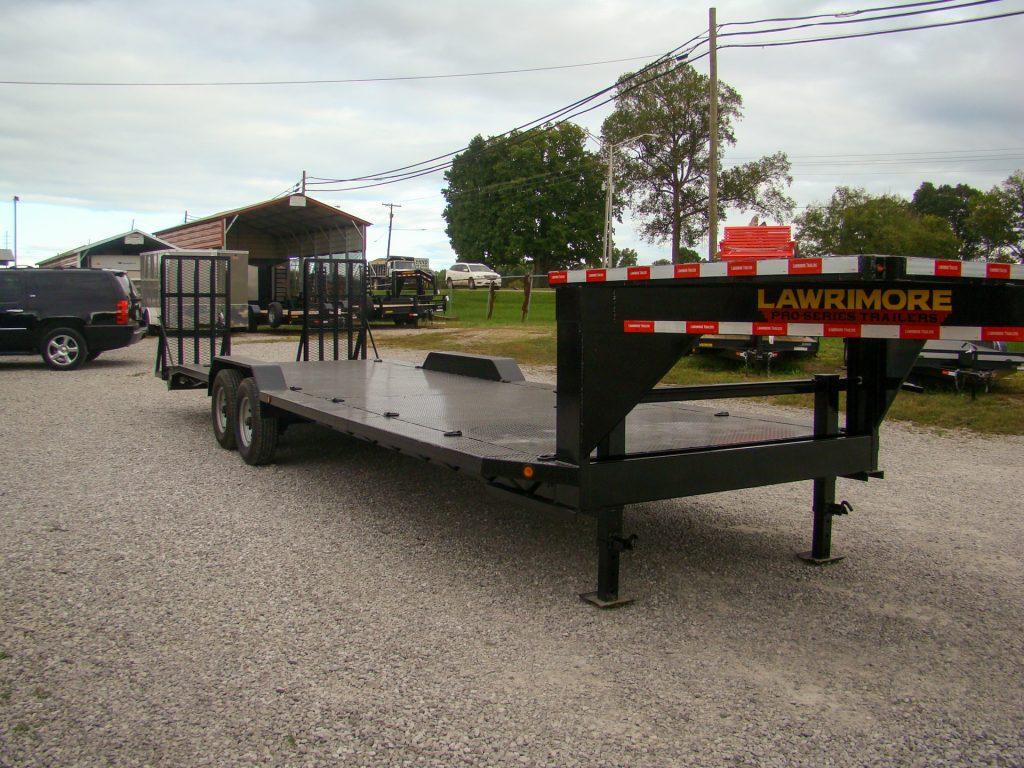 102x27 gooseneck flatbed trailer