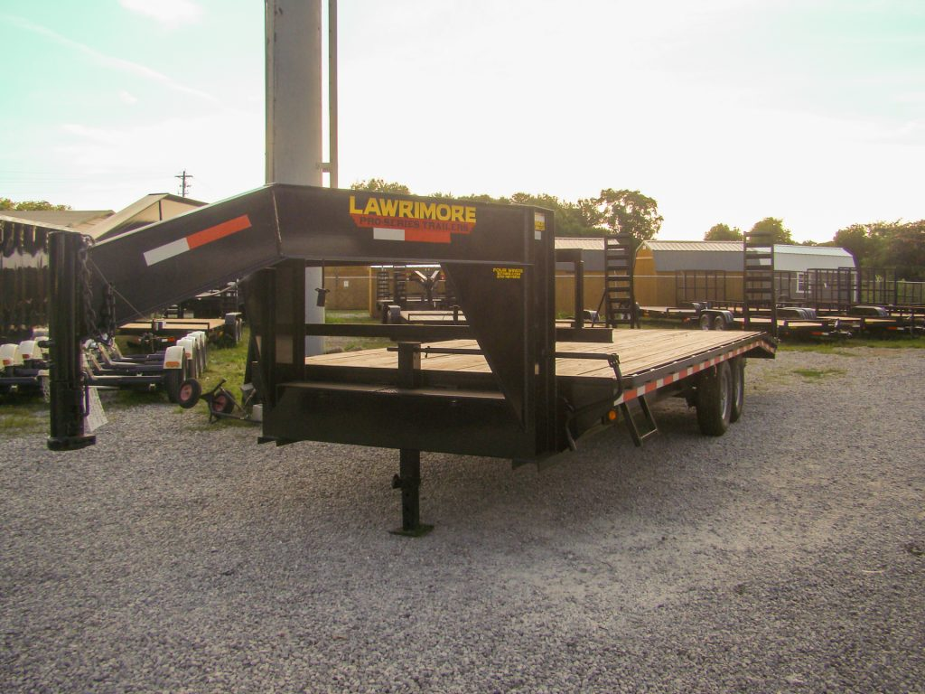 gooseneck flatbed trailer with wooden bed