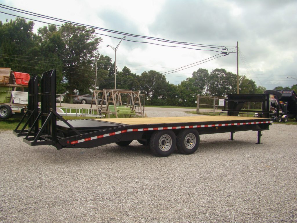gooseneck flatned trailer for sale