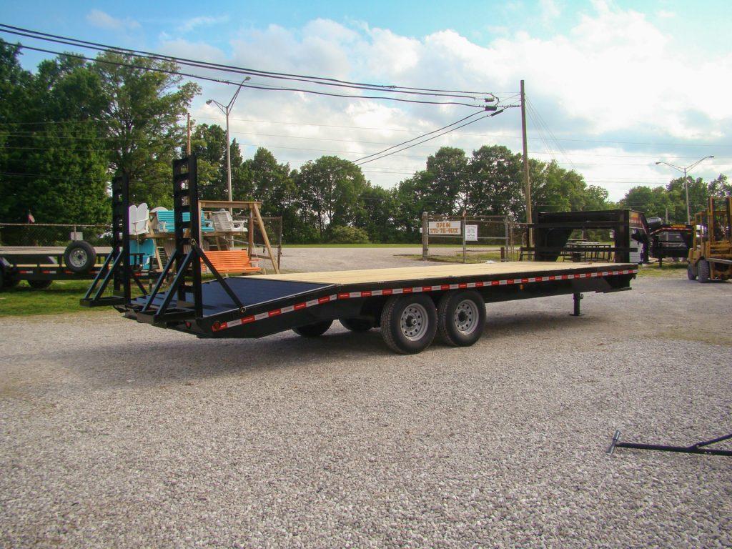 wooden gooseneck flatbed trailer