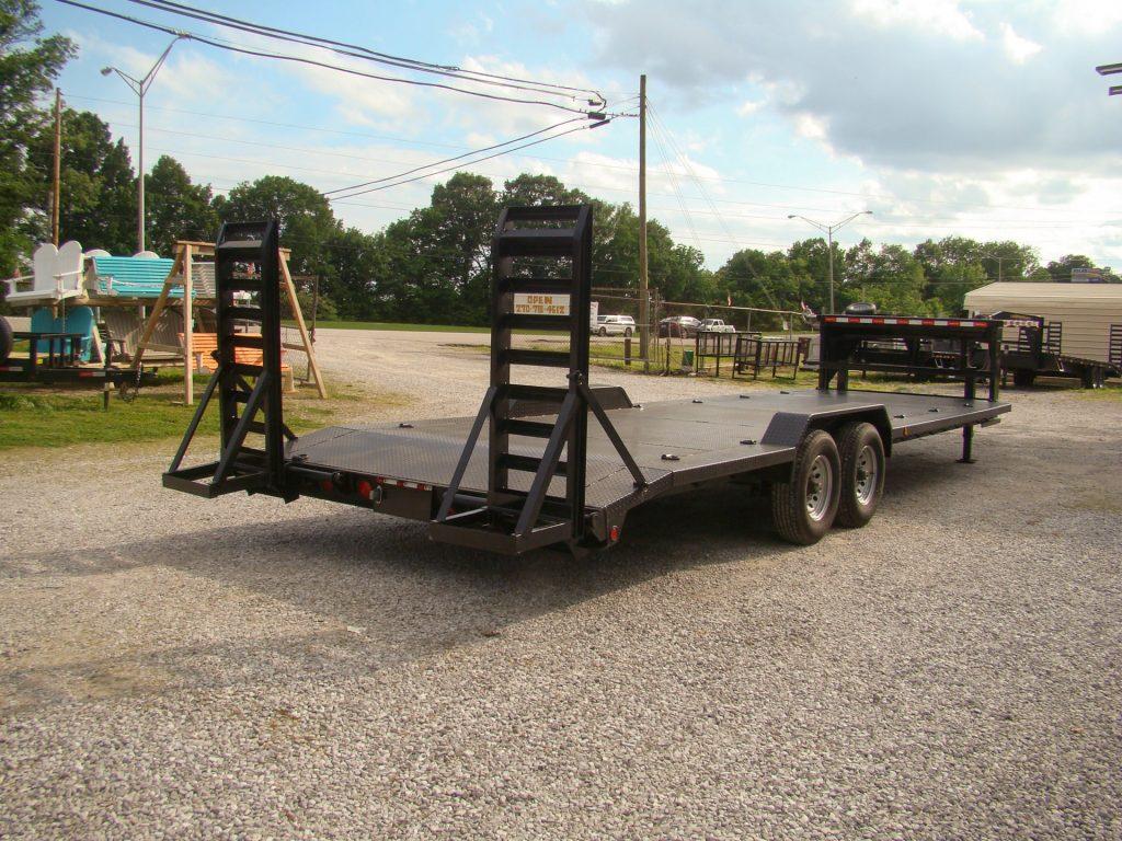 metal gooseneck flatbed trailer
