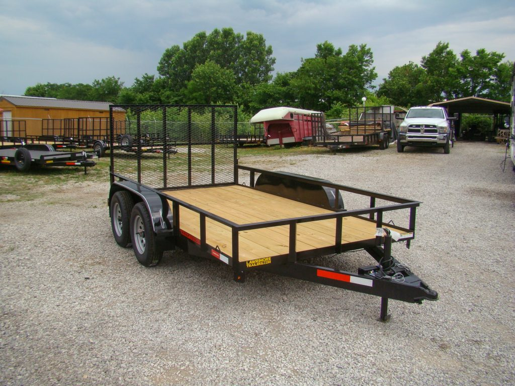 77x12 flatbed utility trailer with gate