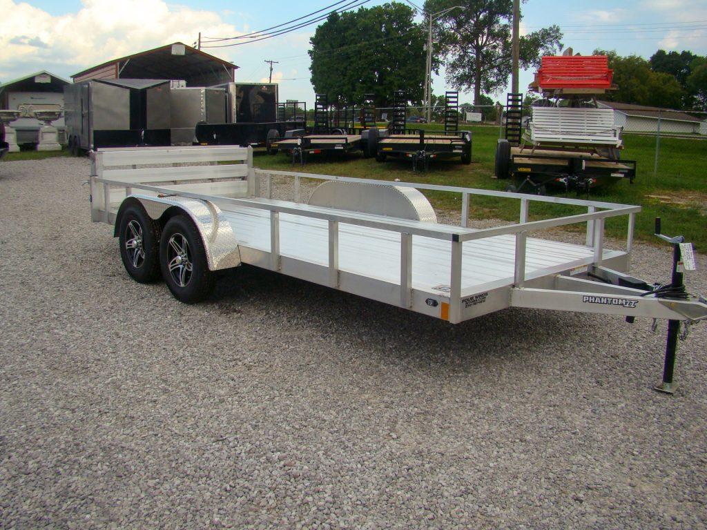 aluminum flatbed utility trailer