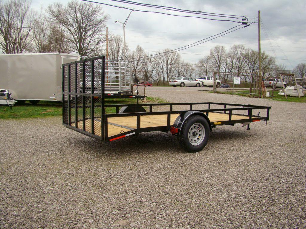 angled flatbed utility trailer