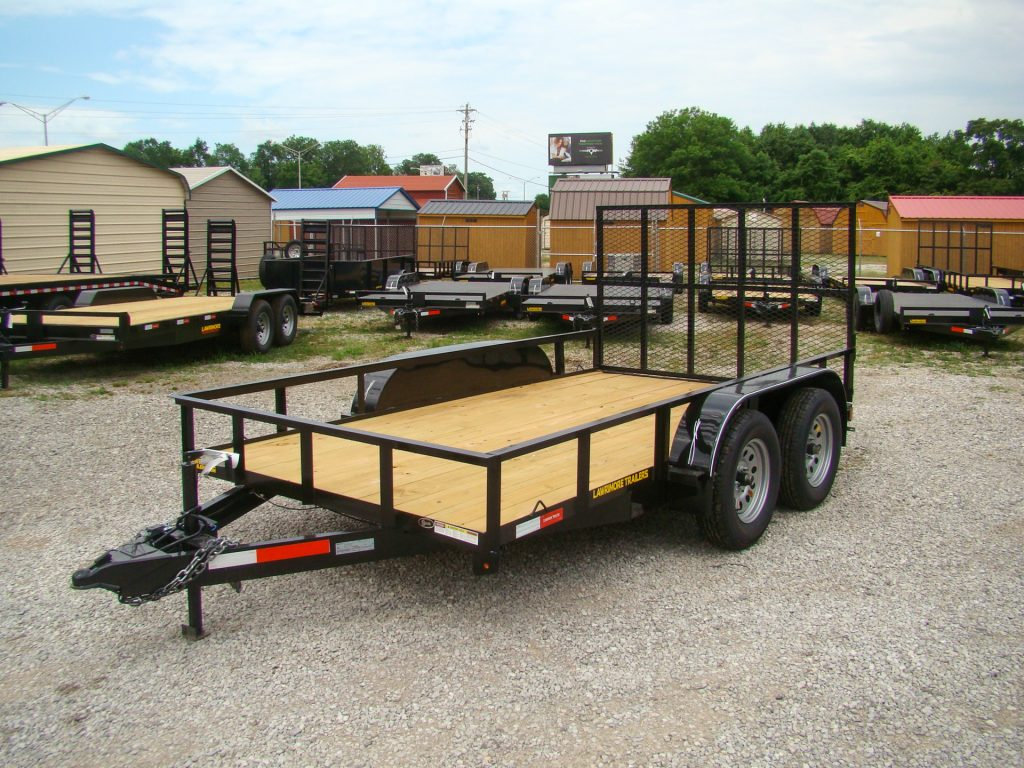 flatbed utility trailer with 4 wheels