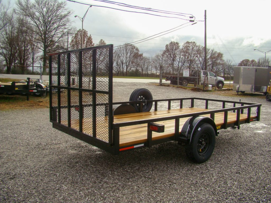 flatbed utility trailer with box lights