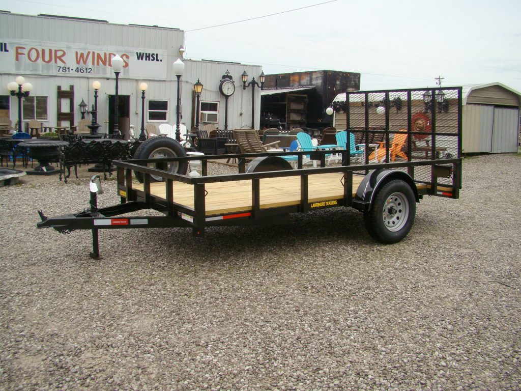 flatbed utility trailer with spare