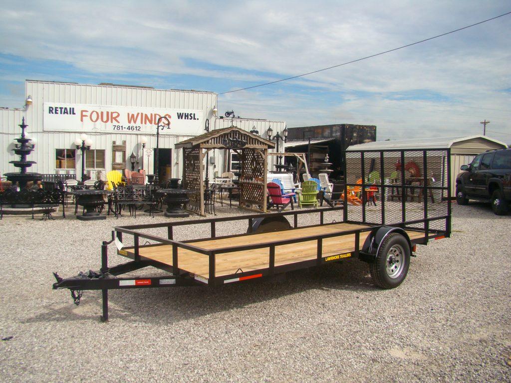 large flatbed utility trailer