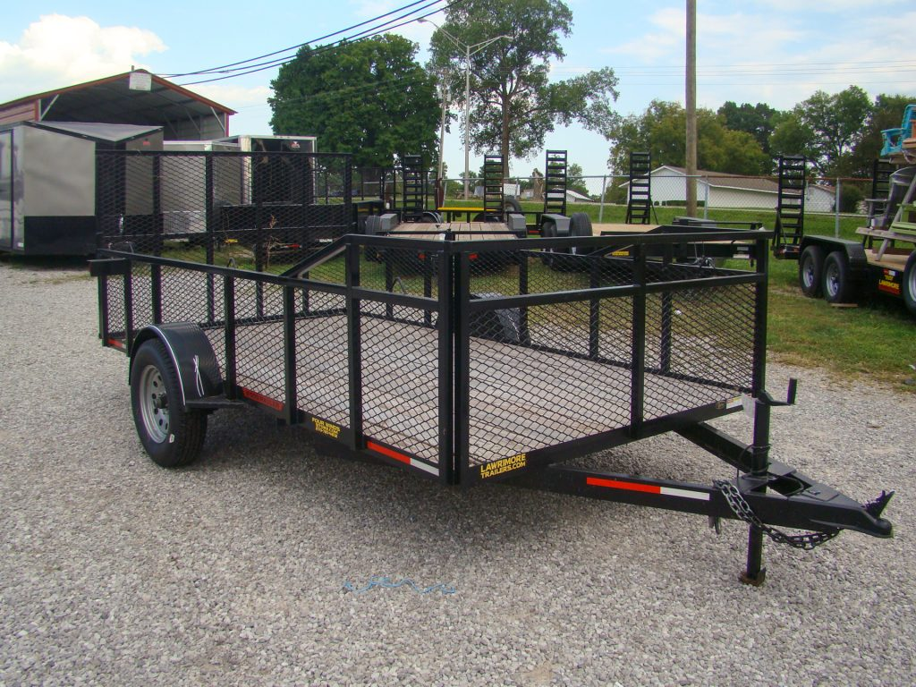 wooden flatbed utility trailer